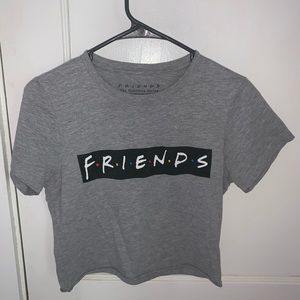 Gray Friends Cropped T-Shirt!